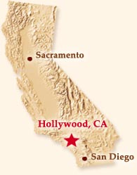 California Map Hollywood.Geneautry Com Places Hollywood California